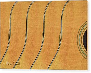 Five Fender Guitars Wood Print by Bob Orsillo