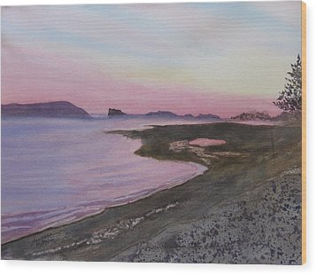 Wood Print featuring the painting Five Islands - Bay Of Fundy by Joel Deutsch