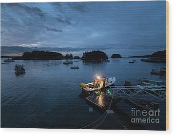 Five Islands Blue Hour Wood Print by Benjamin Williamson