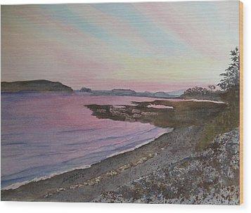 Wood Print featuring the painting Five Islands - Draft IIi by Joel Deutsch