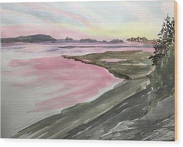 Five Islands - Watercolor Sketch  Wood Print by Joel Deutsch