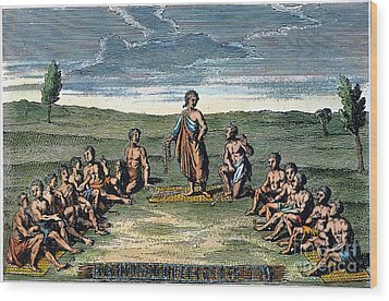 Five Nations: Meeting, C1570 Wood Print by Granger