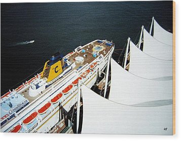 Five Sails And A Ship Wood Print by Will Borden