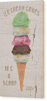 Five Scoops Wood Print by Arline Wagner