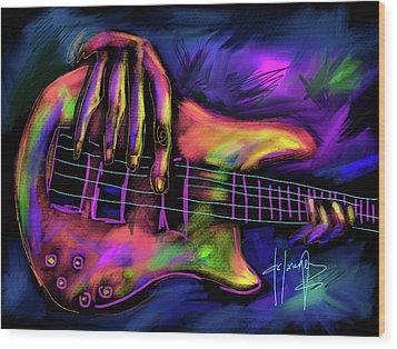 Five String Bass Wood Print