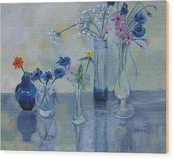 Five Vases Wood Print
