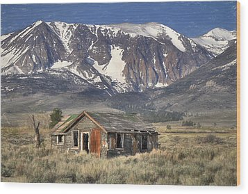 Fixer Upper With A View Wood Print by Donna Kennedy