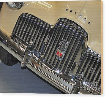 Fj Holden - Front End - Grill Wood Print by Kaye Menner