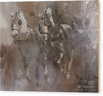 Fjords On The Run Wood Print by Kathy Russell