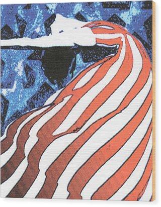 Flag Dancer Wood Print by Linda Crockett