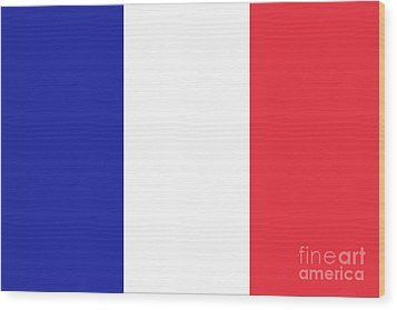 Wood Print featuring the digital art Flag Of France High Quality Authentic Image by Bruce Stanfield