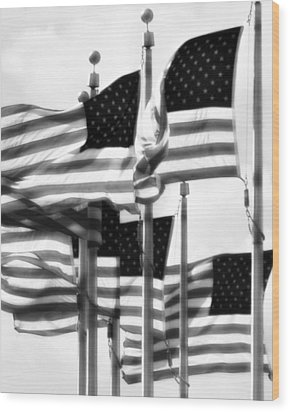 Flags Wood Print by John Gusky