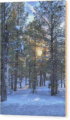 Flagstaff Sunset Wood Print by Kelly Wade