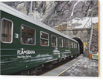 Flam Railway Wood Print by Suzanne Luft