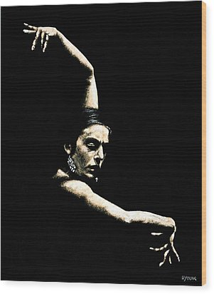 Flamenco Arms Wood Print by Richard Young