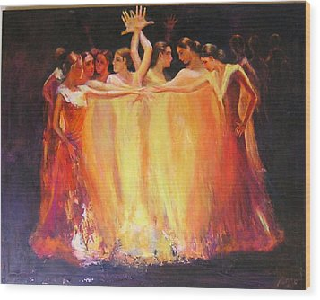 Flamenco Dance Of Light Wood Print