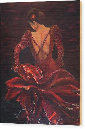 Flamenco Dancer Ma Wood Print
