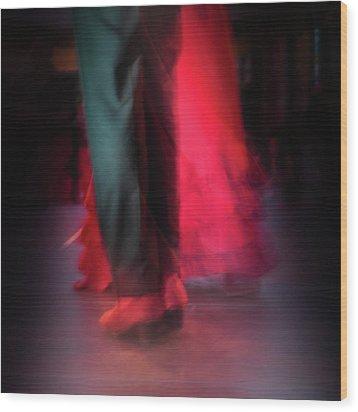 Flamenco Dancers Wood Print by Tetyana Kokhanets