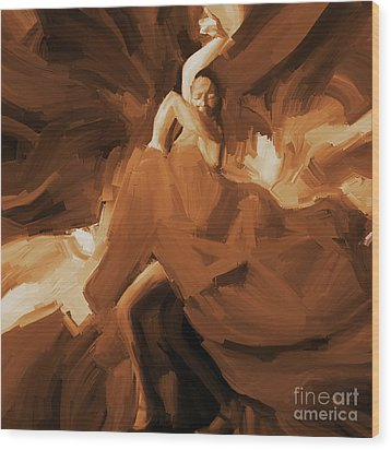 Wood Print featuring the painting Flamenco Flamenco  by Gull G