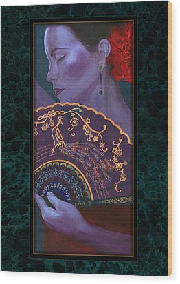Wood Print featuring the painting Flamenco  by Ragen Mendenhall