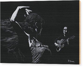 Flamenco Recital Wood Print by Richard Young