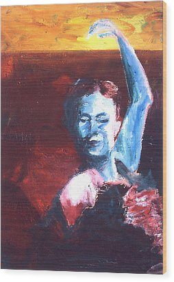 Flamenco Seco Wood Print by LB Zaftig
