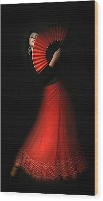 Flamenco Wood Print by Viktor Korostynski