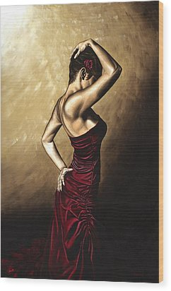 Flamenco Woman Wood Print by Richard Young