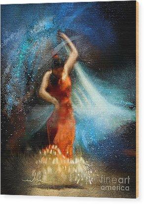 Flamencoscape 05 Wood Print by Miki De Goodaboom