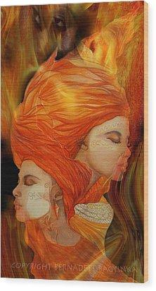 Flames Wood Print