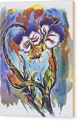 Flames Of Love Wood Print