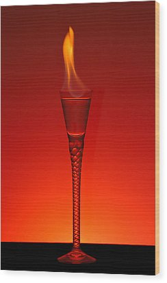 Flaming Hot Wood Print