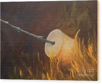 Flaming Wood Print by Joi Electa