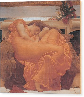 Flaming June - 1895 Wood Print by Lord Frederic Leighton