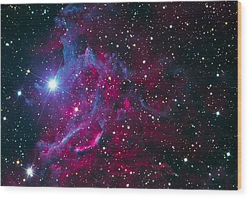 Flaming Star Nebula Wood Print