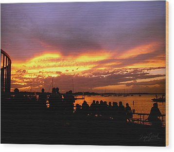 Wood Print featuring the photograph Flaming Sunset by Zafer Gurel