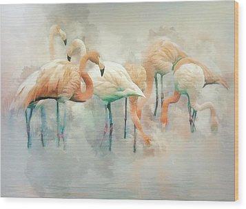 Flamingo Fantasy Wood Print by Brian Tarr