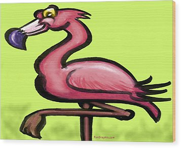 Flamingo Wood Print by Kevin Middleton