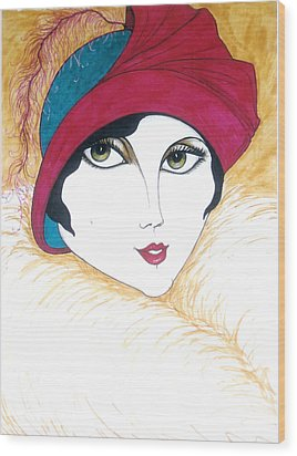 Flapper Girl 1 Wood Print