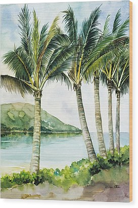 Flapping Palm Trees Wood Print by Han Choi - Printscapes