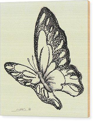 Flasher Wood Print by Iamthebetty Tbone