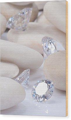 Flashing Diamond Wood Print by Atiketta Sangasaeng