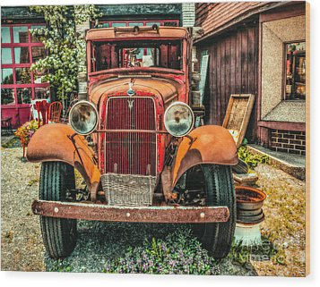 Wood Print featuring the photograph Flat Bed Ford by Nick Zelinsky