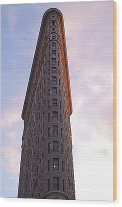 Flat Iron Building Wood Print