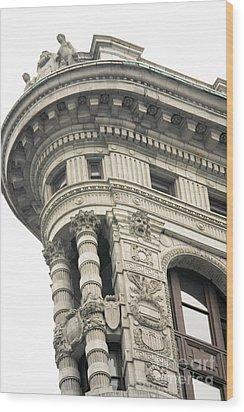 Flatiron Building Detail Wood Print by David Bearden