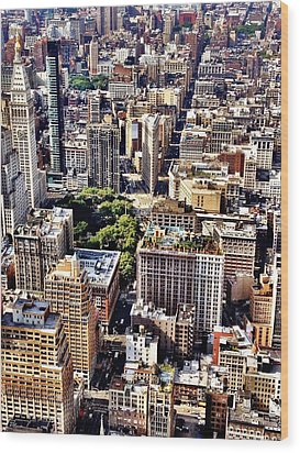 Flatiron Building From Above - New York City Wood Print