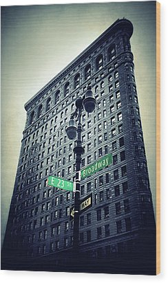 Wood Print featuring the photograph Flatiron Directions by Jessica Jenney