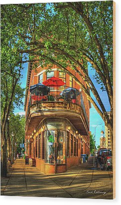 Flatiron Style Pickle Barrel Building Chattanooga Tennessee Wood Print