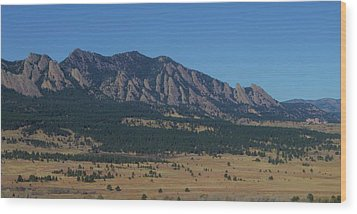 Wood Print featuring the photograph Flatirons Of Boulder by Christopher Kirby