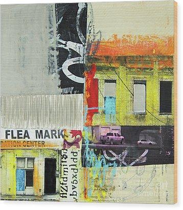 Wood Print featuring the mixed media Flea Mark by Elena Nosyreva